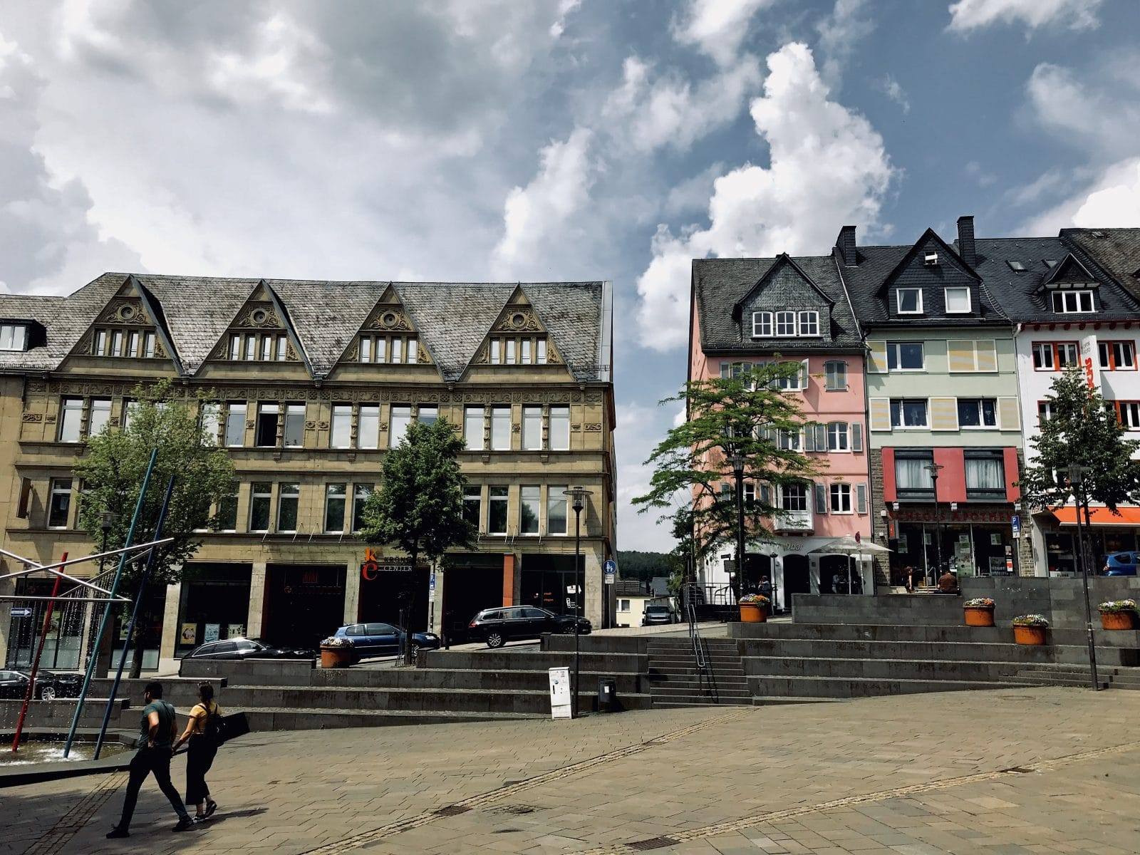 die Oberstadt in Siegen am Marktplatz