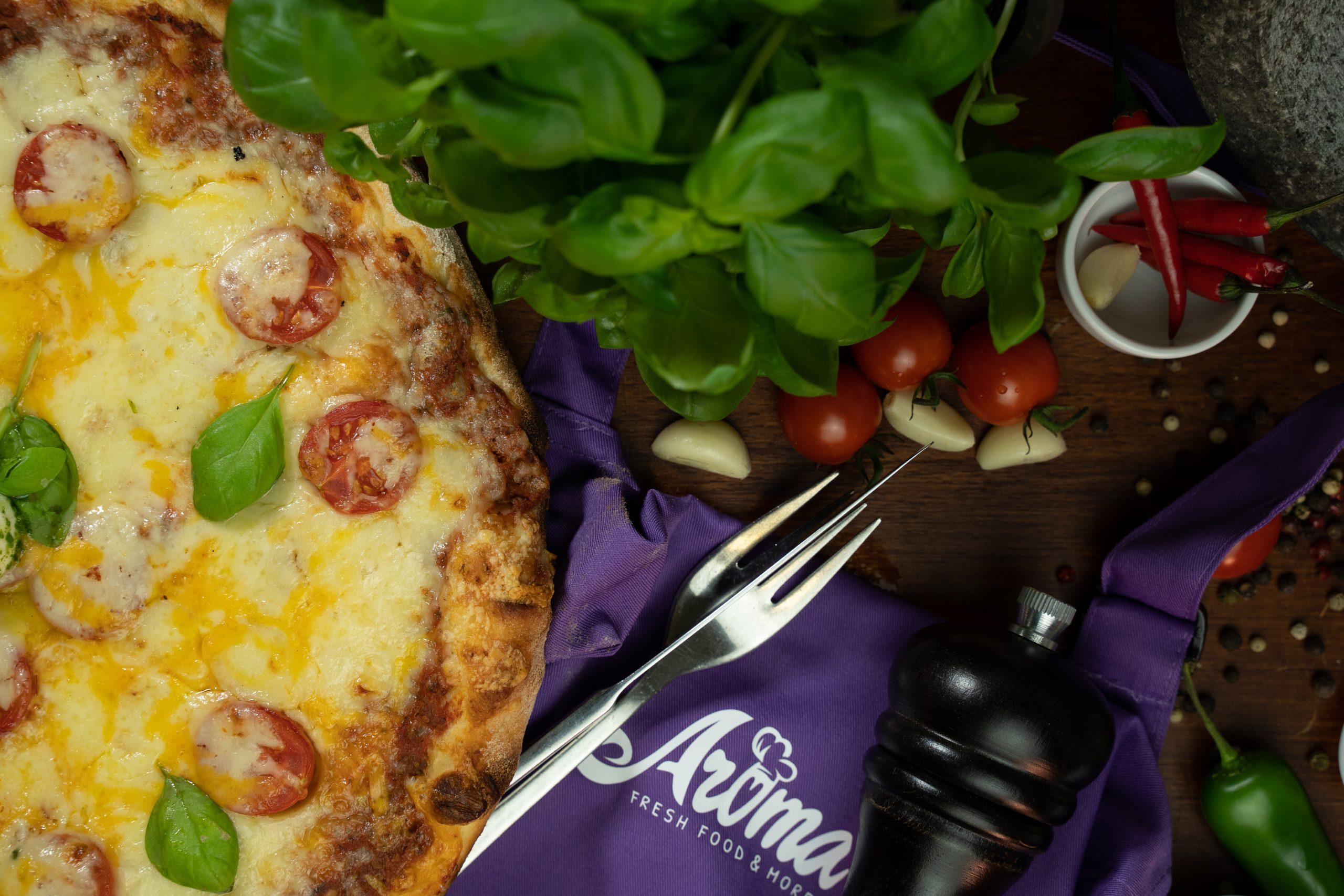 Pizzeria Aroma, Pizza, Pizzafotografie, dreamcode.de